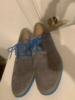 Florsheim Men's Suede Oxford Shoes Size 13 Gray Blue