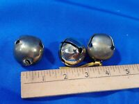 Lot 3 VTG Brass Metal Loose Sleigh Bells Replacement Part Santa Xmas