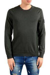 """Emporio Armani EA7 """"Ski"""" Men'S 100% Wool Green Crewneck Sweater Size S M L"""