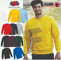 Fruit Of The Loom Men's Classic Set-In Sweatshirt, 11-Colour