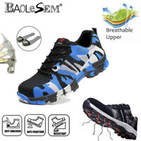 New Indestructible Safety Work Shoes Steel Toe Boots Lightweight Sneakers Mens