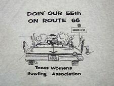 Vintage 55th Anniversary on Route 66 Texas Women Bowling Association T Shirt 2XL