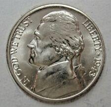 1943 D  BU Jefferson Nickel - Silver War Nickel From OBWRoll