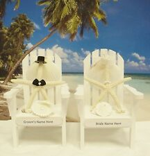 PERSONALIZED Adirondack Chair Wedding Cake Topper WHITE (other colors available)