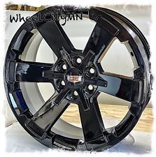 22 Inch Gloss Black 2019 Cadillac Escalade Rally Oe Replica Wheels 6x55 24