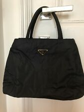 Authentic Prada Nylon Top Handle Bag/ Navy Blue