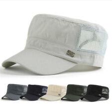 Army Military Cap Cadet Mesh Snapback Baseball Plain Adjustable Flat Sun Hat