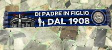 1 SCIARPA FC INTER DI PADRE IN FIGLIO STADIO SAN SIRO MOD.JACQUARD ACRILICO 100%