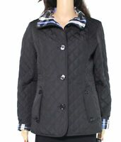 Gallery Women's Jacket Black Size Small S Button Front Quilted LS $98 #030