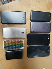 LOT OF 8 mix iPhone 8plus 5c samsung j3 j7 NUU FOR PARTS AS IS