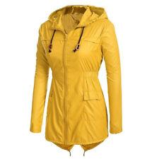Women's Lightweight Hooded Raincoat Waterproof Active Outsport Rain Jacket Coat
