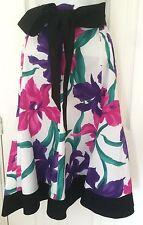 Ladies Debenhams Petite Collection Black/Purple/White/Pink Skirt Size 10 Bow
