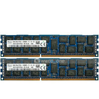 Hynix 16GB 2x8GB 2Rx4 PC3L-12800R DDR3-1600MHz 240Pin RDIMM Ecc Reg Server RAM