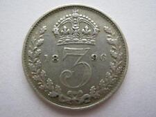1896 Veilied Head silver Threepence, GVF.