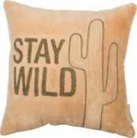 """STAY WILD""  VELVET PILLOW by Primitives by Kathy"