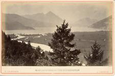 F. Charnaux, Suisse, Lac de Thoune, vue prise de la Heimwehfluh, ca.1880, vintag