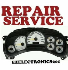 2003 to 2006 GM GMC CHEVROLET INSTRUMENT CLUSTER REPAIR SERVICE 2004 2005