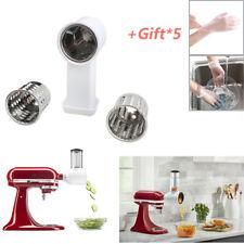 For KitchenAid Stand Mixer Prep Slicer Shredder Attachment Food Pusher Chrome