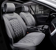 Deluxe PU Grey Leather Front Seat Covers Padded For Nissan Navara Qashqai Juke