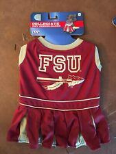 Pets First DOG Collegiate FSU FLORIDA STATE UNIVERSITY Cheerleader Dress Medium