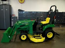 "John Deere 2210 Tractor 4WD W/Loader and 62"" Belly Mower 22HP Diesel  Mint!"