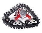 RC 2pcs 1/10 Predator Track Wheel Snow Wheel for SCX10 90018 Ghost Climbing Car