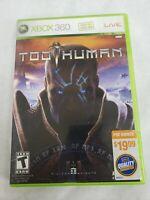 Too Human Xbox 360 FREE FAST SHIPPING