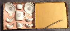 VINTAGE TEA SET  FOR  A DOLL MADE IN JAPAN 12 PIECES IN ORIGINAL BOX