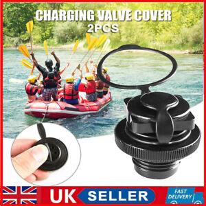 2pcs Air Valve Nozzle Caps for Inflatable Boat Kayak Raft Mattress Airbed UK