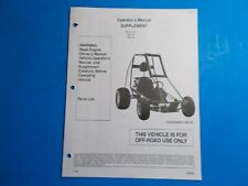 1996 Manco Machine Offroad Vehicle Model 285-191 285-192 Operators Supplement