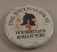Vintage The National Trust Housesteads Roman Fort Pin Pinback Button Badge