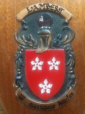 LAMBERT Family Crest Coat of Arms Hardwood Wooden Shield Macauley Mann Heraldry