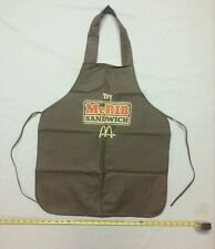 "Rare Vintage Mcdonalds Apron ""Try Mcrib Sandwich"" Brown"