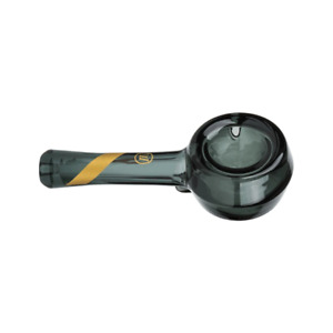 Marley Natural - Smoked Glass Spoon Pipe with Gold Stripe Decal