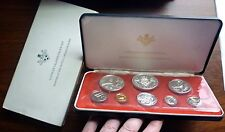 1974 Cayman Islands - Official Proof Coin Set (8) w/ 4 Silver - Ps3 - 3 Oz