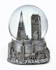 SAN FRANCISCO SILVER SNOWDOME SNOW GLOBE-NEW