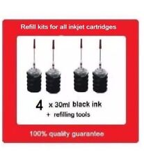 4x refill kits for HP920XL & HP920 Black ink cartridges HP Officejet 6000,7000