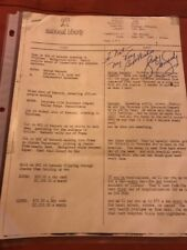 George Kennedy SIGNED Script For Vets Life Insurance Co.  May, 1982 1 Of A Kind!