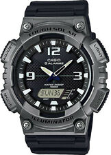 Casio AQS810W-1A4 SOLAR POWER Watch World Time 5 Alarms 100M WR New