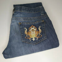 "Roberto Cavalli Jeans ""Just Cavalli"" W31 L32 Embroidered & Embellished RRP £250"