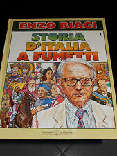 STORIA D'ITALIA A FUMETTI Enzo Biagi nr. 1 Mondadori DeAgostini 1988