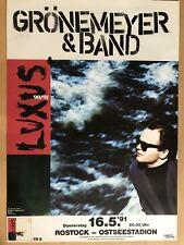 HERBERT GRÖNEMEYER 1991 ROSTOCK - orig.Concert Poster -- Konzert Plakat   A1 NEU
