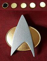 Star Trek The Next Generation Combadge Communicator Pin Com Badge Uniform Set