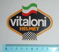 ADESIVO STICKER VINTAGE AUTOCOLLANT VITALONI HELMET ANNI '80 9x7 cm MOLTO RARO