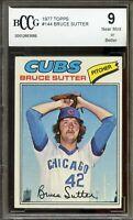 1977 Topps #144 Bruce Sutter Rookie Card BGS BCCG 9 Near Mint+