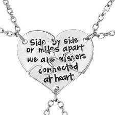 3pc Fashion Silver Jewelry Set Sisters Engraved Necklace Best friends Chain UK