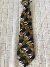 Children Kids Pre Tied Tie Boys Necktie Michael James Clip Black White Gold