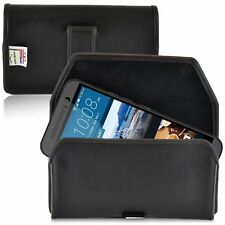 Turtleback HTC One M9 Leather Pouch Holster Phone Case With Black Belt Clip
