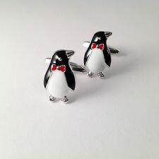 BN Novelty Enamel Penguin Cufflinks