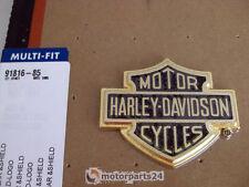 Harley DAVIDSON Bar & shield Gold Emblem MEDALLION je sais bar valise 91816-85